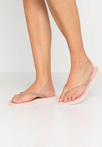 Havaianas - SLIM FIT LOGO METALLIC - Pool shoes - ballet rose - 0