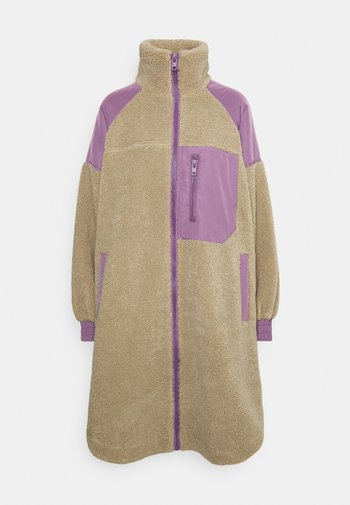 ELVIRA COAT - Winter coat - taupe/purple