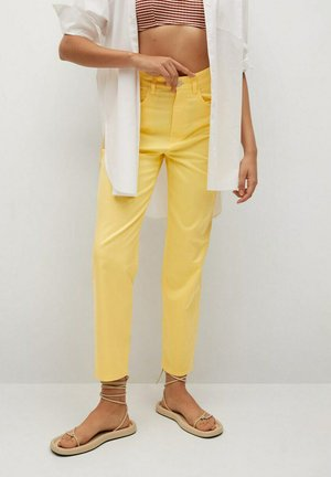 Trousers - pastel yellow