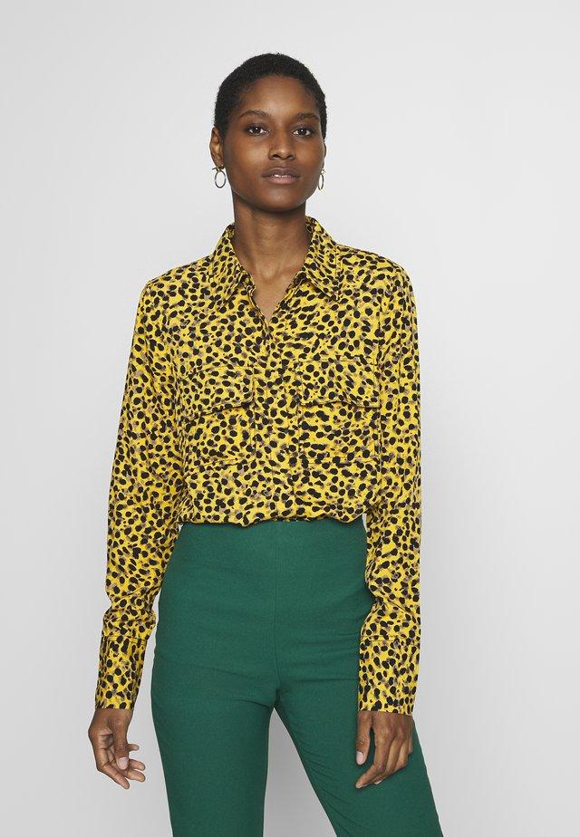 BLOUSE - Button-down blouse - yellow multi color