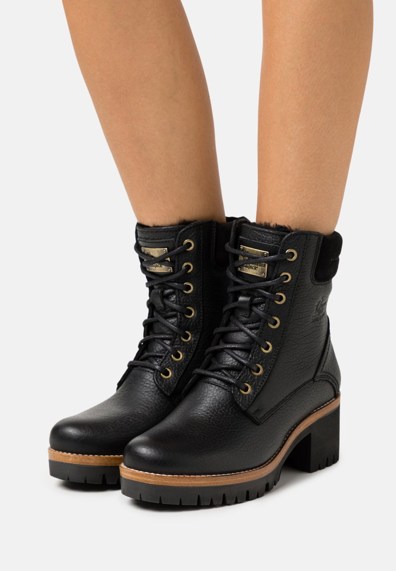 Panama Jack - PHOEBE IGLOO - Šněrovací kotníkové boty - black