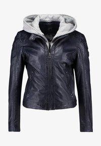 Gipsy - ANGY LAMAS - Leather jacket - dark navy - 6