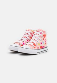 Converse - CHUCK TAYLOR ALL STAR HEARTS  - High-top trainers - storm pink/natural ivory/white - 1