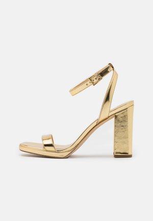 ANGELA ANKLE STRAP - High heeled sandals - gold