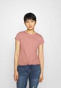 Abercrombie & Fitch - KNOTTED MIDI - Jednoduché triko - pink - 0