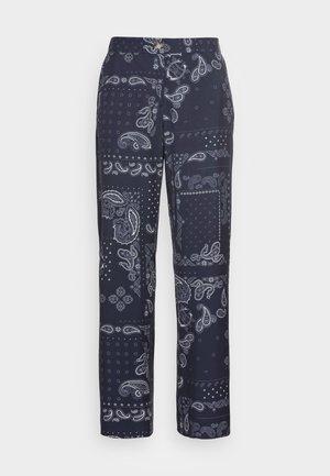 BANDANA WIDE PANT - Kalhoty - evening blue