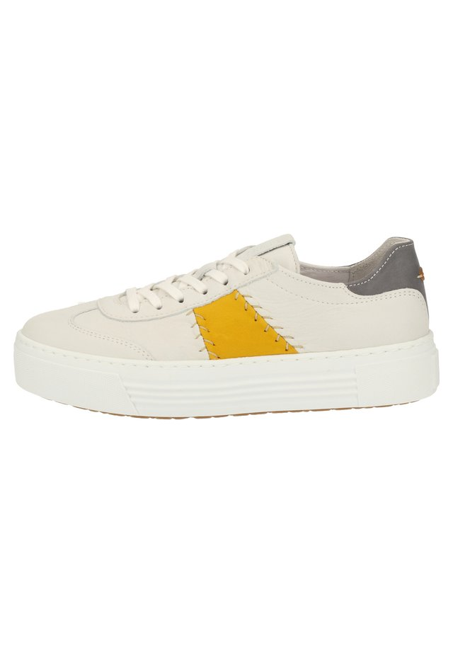 CAMEL ACTIVE SNEAKER - Sneakers laag - white/yellow