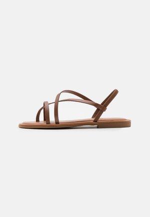 BROASA - T-bar sandals - brown
