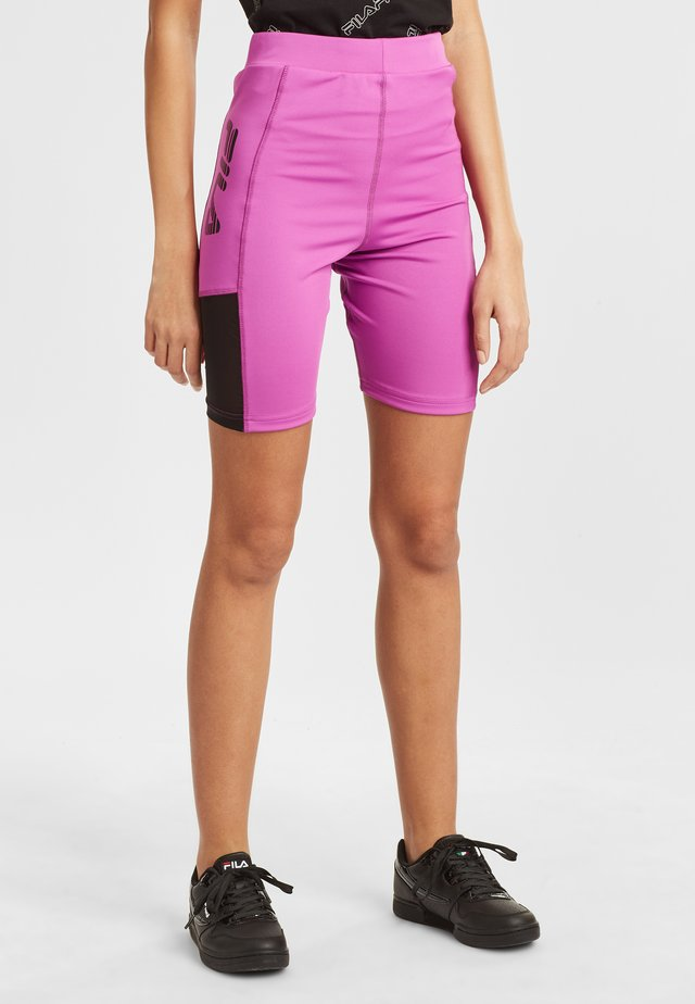 AINO  - Shorts - purple cactus flower-black