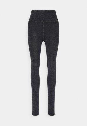 ACID WASH FASHION - Leggings - Trousers - mottled dark grey