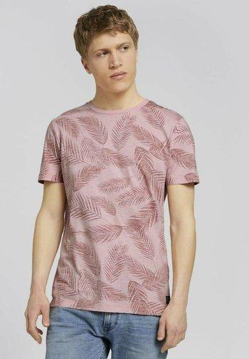 MIT PALMENPRINT - T-shirt med print - purple