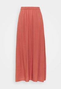 VMSIMPLY EASY SKIRT - Maxi skirt - marsala