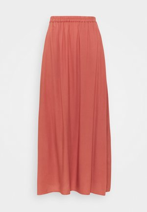 VMSIMPLY EASY SKIRT - Falda larga - marsala