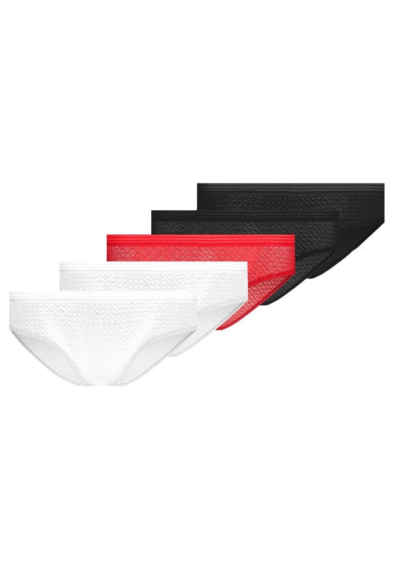 Even&Odd - 5 PACK - Underbukse - white/red/black