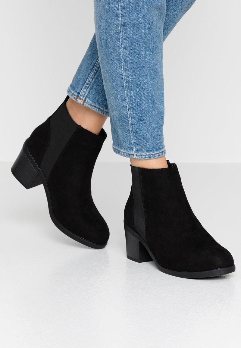 New Look Wide Fit - WIDE FIT CORA - Kotníková obuv - black