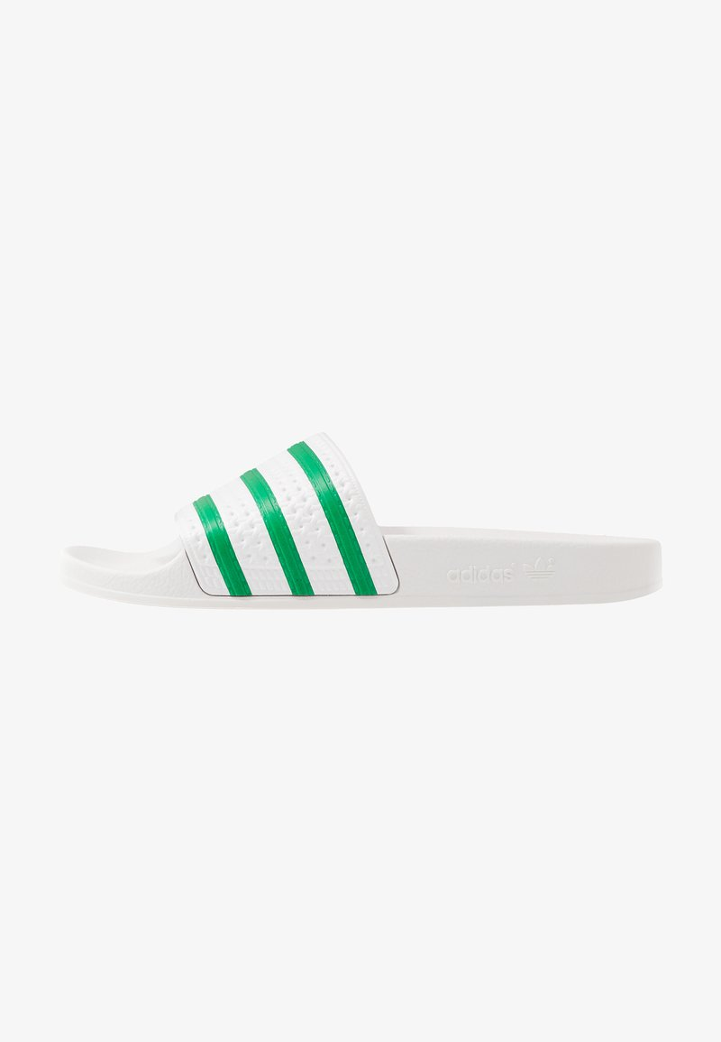 adidas Originals - ADILETTE - Pantofle - dash grey/green
