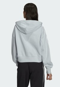 adidas Originals - ADICOLOR CLASSICS CROP HOODIE - Sweat à capuche - blue - 1