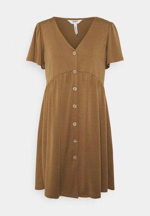 OBJWILMA DRESS PETITE - Jersey dress - sepia