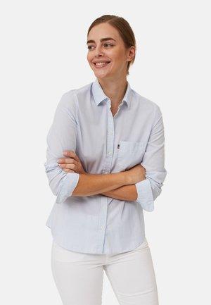 Button-down blouse - lt blue/white stripe