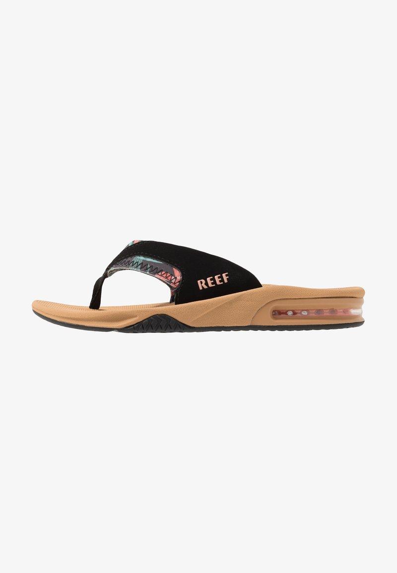 Reef - FANNING - Sandály s odděleným palcem - beige