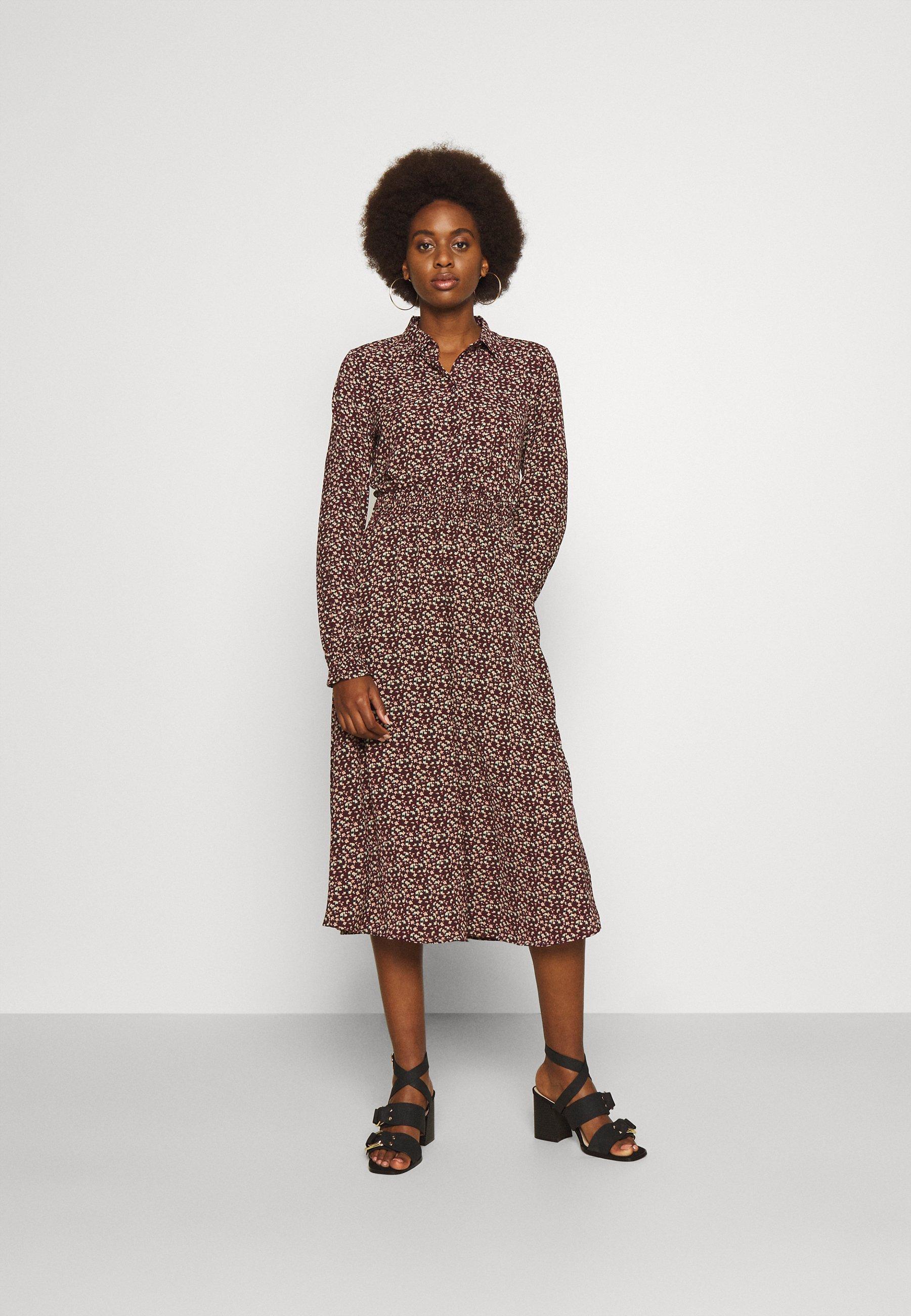 Women VMSAGA SMOCK CALF DRESS - Maxi dress