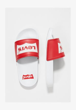 POOL 02 - Badslippers - white/red