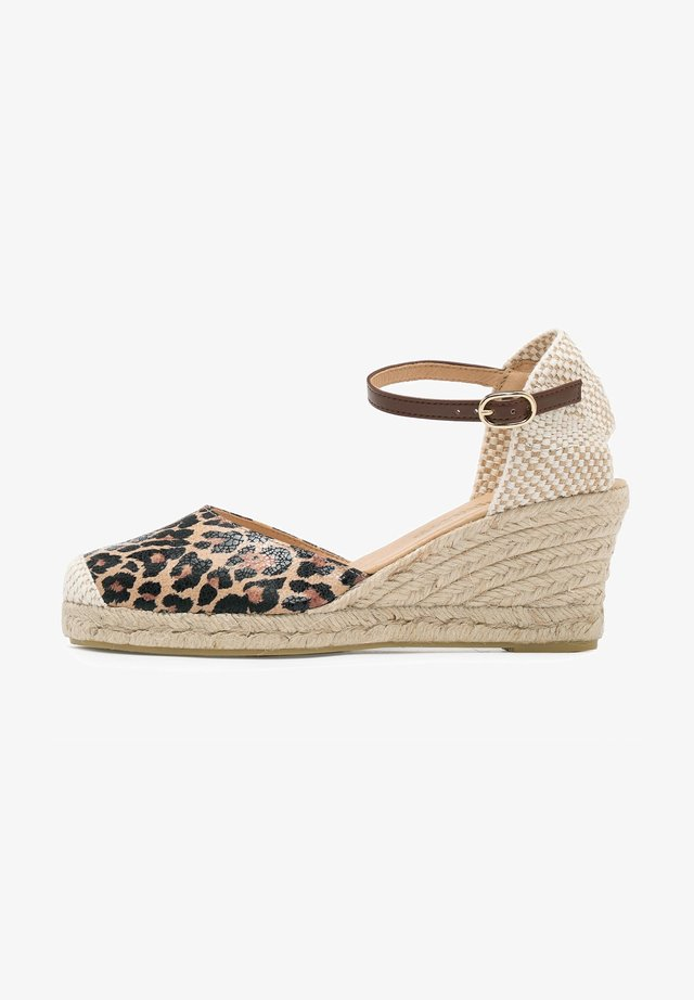 MEDIA ESPARTO LEOPARDO - Platform sandals - leopardo