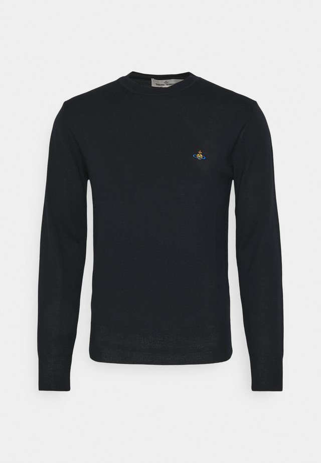 CLASSIC ROUND NECK - Jumper - navy