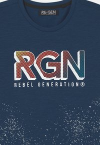 Re-Gen - TEEN BOYS - Triko spotiskem - estate blue - 2