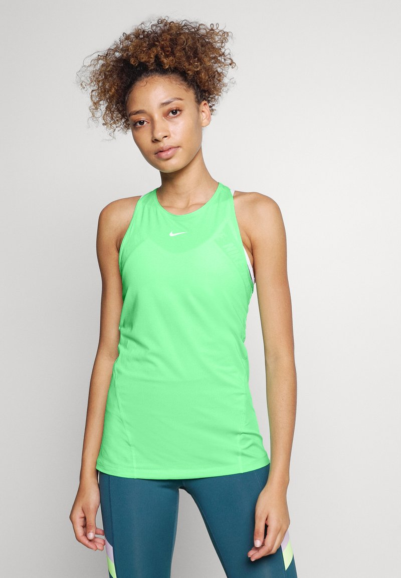 Nike Performance - TANK ALL OVER  - Funktionstrøjer - green glow/white