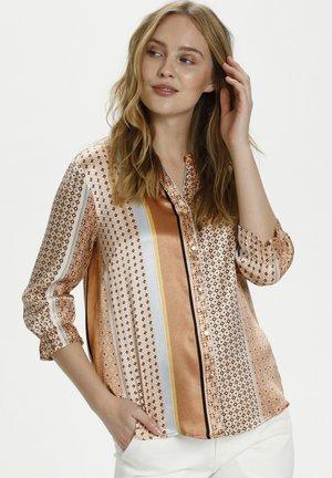 Button-down blouse - brown sugar