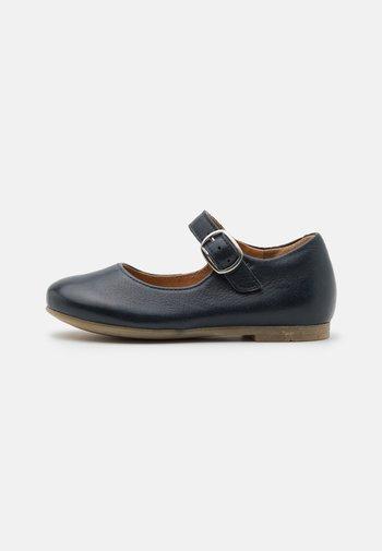 FIONAS BUCKLE - Ankle strap ballet pumps - dark blue