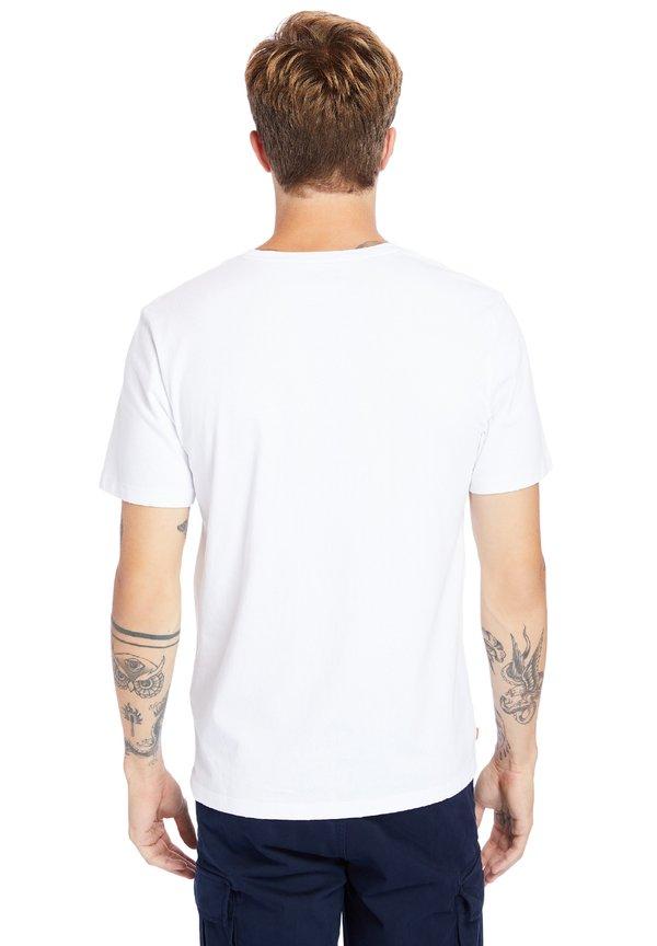 Timberland T-shirt z nadrukiem - white/biały Odzież Męska VAEL