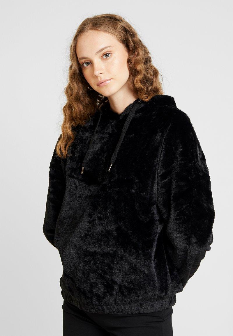 New Look - HOODY - Luvtröja - black