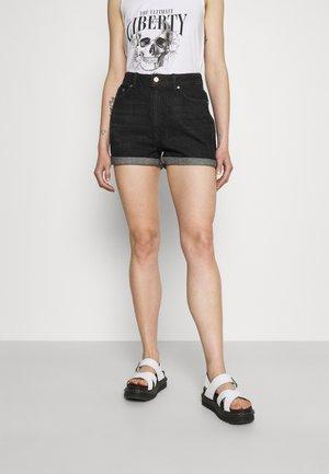 ONLBAY LIFE  - Denim shorts - black denim