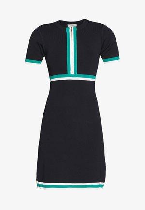 Robe pull - marine/vert