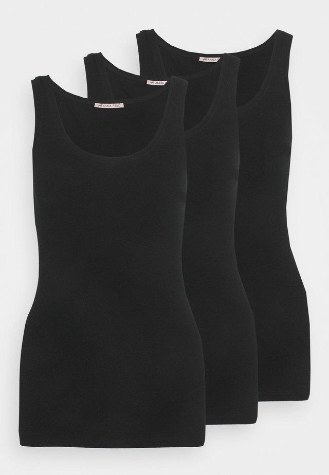 3 PACK - Top - black/black/black