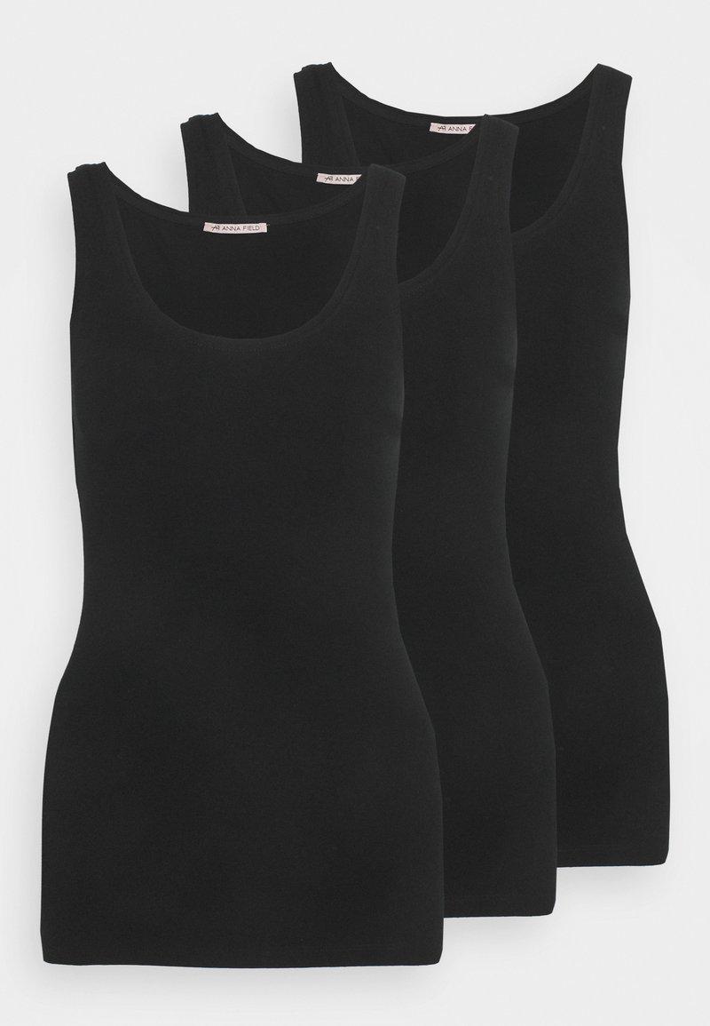 Anna Field - 3 PACK - Toppi - black/black/black