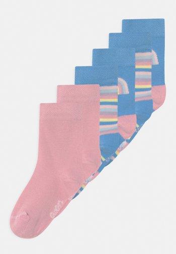 REGENBOGEN/UNI 6 PACK UNISEX - Socks - navy/rose
