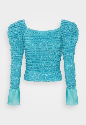PUCKERED STITCH STRONG SHOULDER CROP - Maglietta a manica lunga - tahitian