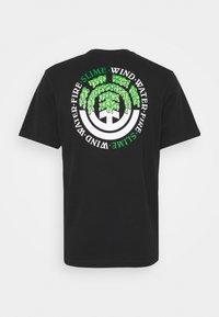 Element - PROTON SEAL - Print T-shirt - flint black - 1