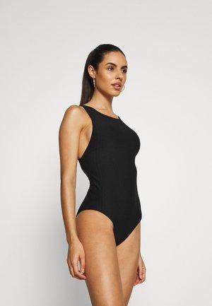 MEDUSAHIGH NECK MAILLOT - Swimsuit - black