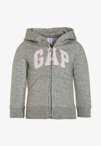 GAP - TODDLER GIRL LOGO - Mikina na zip - heathergrey - 0