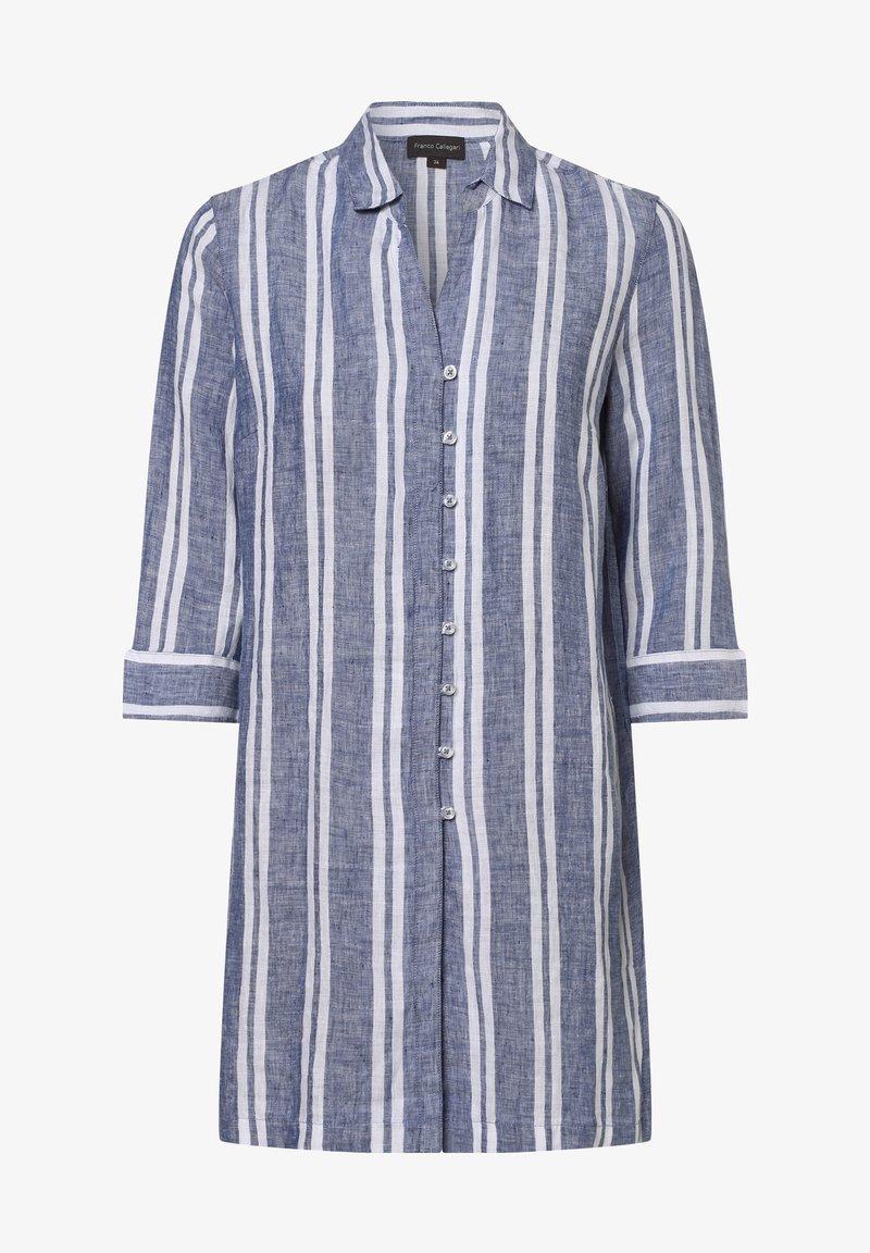 Franco Callegari - Button-down blouse - denim weiß