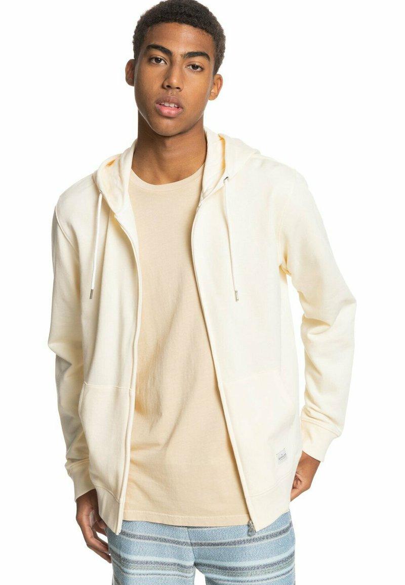 Quiksilver - MIT REISSVERSCHLUSS FÜR MÄN - Zip-up sweatshirt - antique white