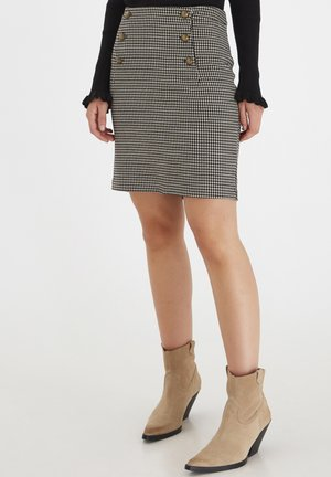 A-line skirt - black mix