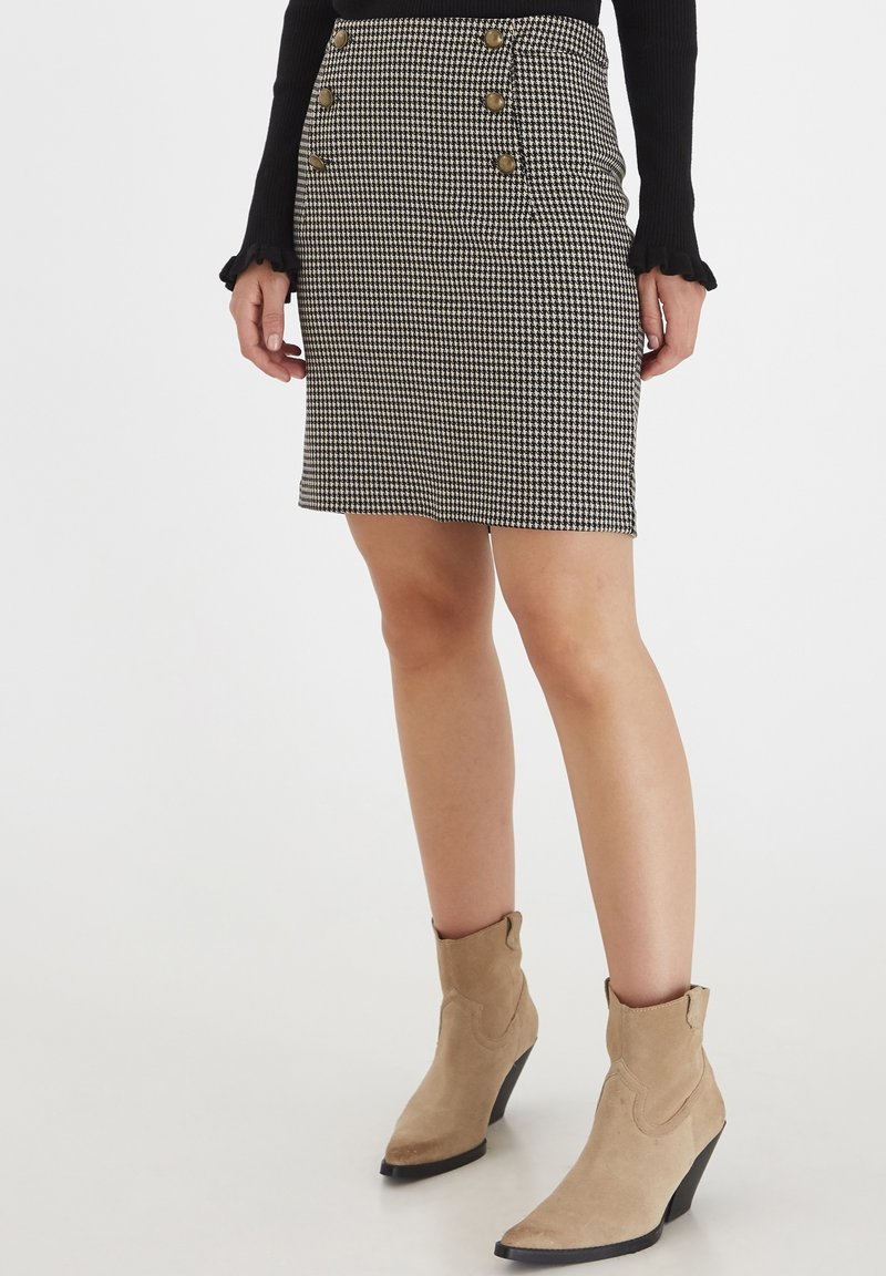 b.young - A-line skirt - black mix
