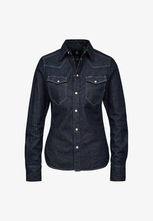 WESTERN KICK DENIM SLIM LONG SLEEVE - Skjorte - rinsed