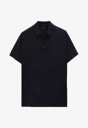 Polo shirt - blue-black denim