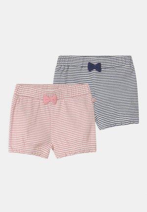 2 PACK - Shorts - light pink/dark blue
